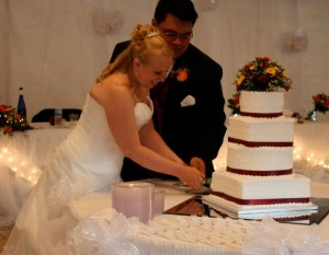 Cutting the cake!